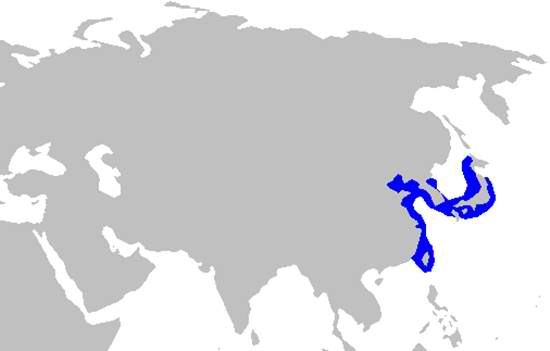 Japanese Sawshark Habitat Map